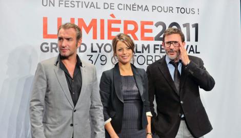 Festival Lumière 2011 | Jean Dujardin, Bérénice Béjo et Michel Hazanavicius