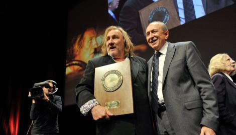 Festival Lumière 2011 | Gérard Depardieu avec Gérard Collomb, maire de Lyon