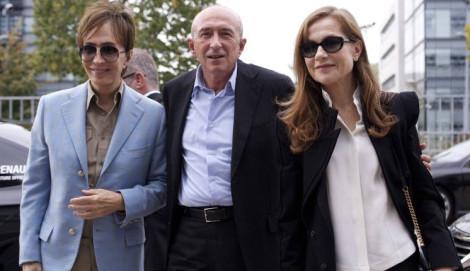 Michael Cimino, Gérard Collomb et Isabelle Huppert    Festival Lumière 2012